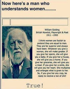 Now here's a man who understands women.....