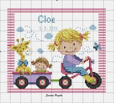 Baby Cross Stitch Patterns, Cross Stitch For Kids, Cross Stitch Baby, Cross Stitch Charts, Cross Stitch Designs, Baby Patterns, Cross Stitching, Cross Stitch Embroidery, Stitches Wow