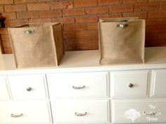 The Creek Line House: Burlap Storage Bins From the Garden Center