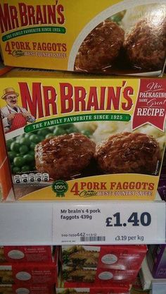 Pork faggots?  My favorite!