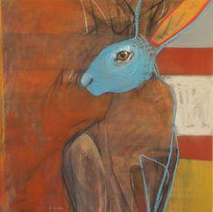 Alice's Adventures in Wonderland Theme für das Pelham Art Center … - Hase Hare Pictures, Lapin Art, Organic Art, Rabbit Art, Abstract Animals, Adventures In Wonderland, Green Art, Illustrations, Portrait Art