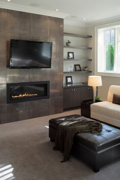 MSI Stacked Stone Visualizer Tool enables you to design real time stacked stone ledger panels for your home Tv Above Fireplace, Linear Fireplace, Fireplace Surrounds, Fireplace Design, Gas Fireplace, Ledger Stone Fireplace, Living Room Tv, Living Room With Fireplace, Living Room Ideas