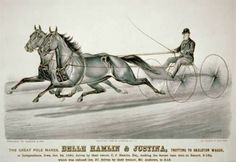 Independence, Iowa in 1890.  Harness Racing.