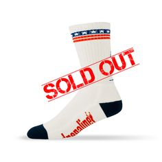 Adrenaline The USA's Mesh Top Sock (White)