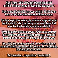 #DunkinDonuts #minimumwage #fightfor15