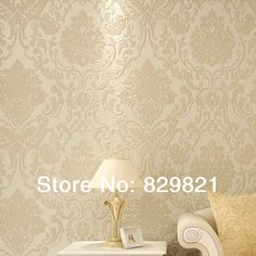 Find More Wallpapers Information about Classic Europe Wallpaper Embossed Damask Flock Textured Living Room Home Decor Damasus Wall Paper Roll papel de parede Yellow,High Quality roll to roll heat press,China wallpaper butterfly Suppliers, Cheap wallpaper sticker from Good Good Retail & Wholesale Online Store on Aliexpress.com