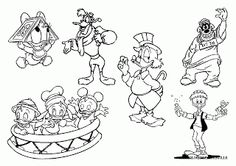 Ducktales Coloring Pages - Disney Coloring Pages Cool Coloring Pages, Cartoon Coloring Pages, Disney Coloring Pages, Coloring Pages For Kids, Coloring Sheets, Kids Coloring, 1980 Cartoons, Diy And Crafts, Arts And Crafts