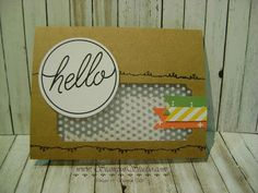 Stampin' Studio, Stampin' Up! Tin of Cards Kit and stamp set. An alternative card made with product from the kit