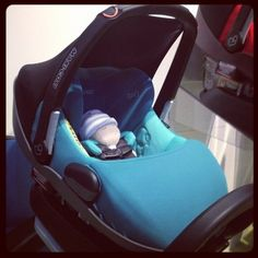 """The Maxi-Cosi Prezi was just released. The infant car seat has an """"easy-out"""" harness and an antirebound bar that helps prevent the seat from flying back in the event of a crash."""
