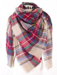 Tartan Plaid Oversize Blanket Scarf Acrylic - Any kind of plaid blanket scarf :) Outfit Invierno, Plaid Blanket Scarf, How To Wear A Blanket Scarf, Ways To Wear A Scarf, Fall Scarves, Tie Scarves, Oversized Scarf, Tartan Plaid, Winter Outfits
