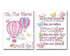 Pink nursery artwork baby girl room  typography by PinkRockBabies