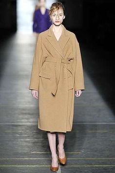 Dries Van Noten Fall 2009 Goes for Baggy and Beige #dress #fashion trendhunter.com