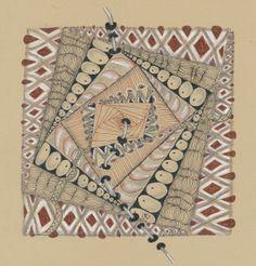 Ren Zentangle tile