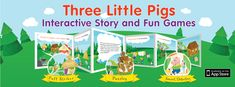 Three Little Pigs book app now features three fun games!