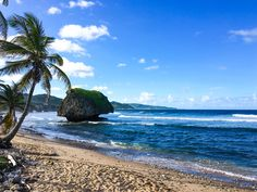 The Atlantic Coast of Barbados is a bit rocky with a heavier surf, but is just plain beautiful.