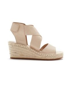Willow Wedge Espadrille in Tumbled Leather