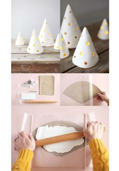 Vores yndlingsmateriale lige nu: FIMOLER! Det er ganske enkelt genialt, og du kan kreere de smukkeste ting af det bløde ler. Her er to poetiske ideer til julepynt af fimo.