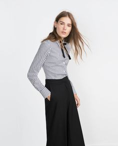 BASIC POPLIN SHIRT-View all-Tops-WOMAN | ZARA United States