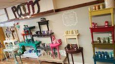 Miss Lillian's NO-WAX Chock Paint display