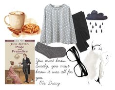 Rainy Day With Jane Austen And Hot Chocolate! by mafalda-a-mateus on Polyvore featuring Madewell, White Stuff, Retrò and Garance Doré