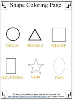 1000 images about Shapes Worksheets on Pinterest