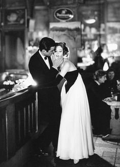Gardner McKay with Suzy Parker in evening gown by Lanvin-Castillo, photo by Avedon at Cafè des Beaux-Arts, Paris, August 1956
