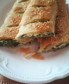 Greek Recipes, Vegan Recipes, Spinach Pie, Greek Cooking, Spanakopita, Sandwiches, Sweet Home, Food And Drink, Tasty