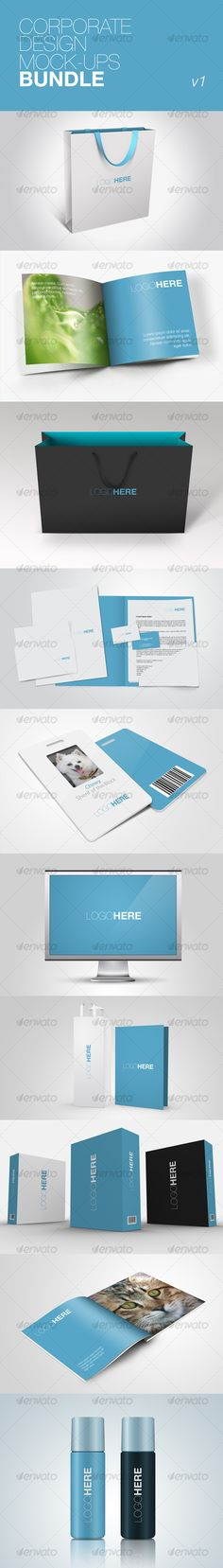 Corporate Design Mock-ups Bundle v1 - GraphicRiver - $11