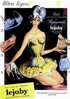 Lejaby lingerie advertisement, 1950s.