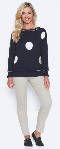 Stay on trenf with Spot Jumper by Threads. Product Page, Jumper, Fitness, Sleeves, Sweaters, Style, Gymnastics, Swag, Sweater