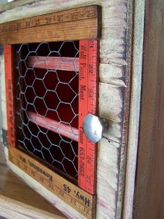 Love Beyond the Picket Fence. She makes the coolest stuff out of pallets and recycled wood. Take a look!