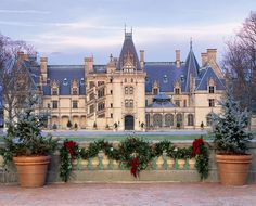 Christmas at the Biltmore House officially begins Friday, November through January 2010 in Asheville, NC. The Biltmore Christmas . Asheville North Carolina, Asheville Nc, South Carolina, Dream Vacations, Vacation Spots, Casa Casuarina, Biltmore Christmas, Places To Travel, Places To Go