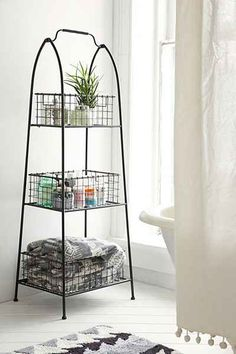 Tiered Wire Storage Shelf - Urban Outfitters  great use of storage #UOonCampus #UOContest