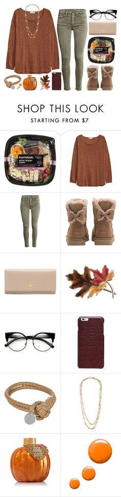 """Cozy Fall Sweaters"" by megan-vanwinkle ❤ liked on Polyvore featuring H&M, UGG, Prada, Anne Klein, Maison Margiela, Bottega Veneta, Chanel and Topshop"