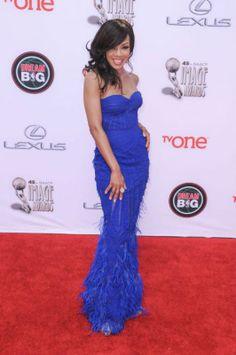 Wendy RaquelRobinson at the 2014 NAACP Image Awards.