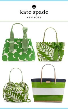 In lurve with these green Kate Spade bags