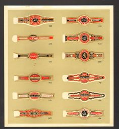 Undated Unused Sample Sheet Of  Cigar Bands King Highball