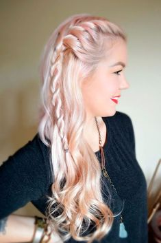 Truly Impressive Rope Braid Hairstyle DIY Hairstyles: Easy Rope Braid Hair Tutorial ★ See more: love Big Box Braids Hairstyles, Braided Hairstyles Tutorials, African Hairstyles, Diy Hairstyles, Pretty Hairstyles, Hairstyle Braid, Rope Braid Tutorials, Fishtail Updo, French Fishtail