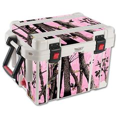 MightySkins Protective Vinyl Skin Decal for Pelican 35 qt Cooler wrap cover sticker skins Pink Tree Camo ** You can find out more details at the link of the image.(This is an Amazon affiliate link and I receive a commission for the sales)