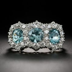 J.E. Caldwell Edwardian Zircon and Diamond Ring  - Shop for Jewelry