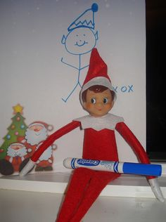 East Coast Mommy: 20 Nice {Not Naughty} Elf on the Shelf Ideas.I like the idea of the elf being nice, not naughty! Elf On The Self, The Elf, Experiment, Christmas Holidays, Christmas Crafts, Christmas Ideas, December Holidays, Celebrating Christmas, Christmas Things