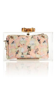 Shop Pandora Bamboo Clutch by Charlotte Olympia Now Available on Moda Operandi