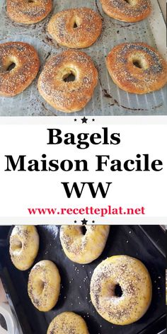 Discover the easy WW Bagel Recipe, a delicious bread for your breakfast or a snack, a Weight Watchers recipe very easy and simple to make at home, try it. Plats Weight Watchers, Weight Watchers Meals, Healthy Crockpot Recipes, Diet Recipes, Cheap Easy Meals, Bagels, Clean Eating Diet, Diabetes, Cake
