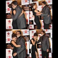 When PC met Big B! The actress walked upto the legendary Amitabh Bachchan and we can all see the warm greetings being exchanged.