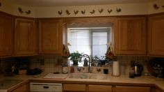 New kitchen paint job and my rooster decals facing south