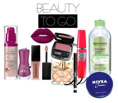 """my beauty to go"" by dzenana88 on Polyvore featuring beauty, Bourjois, Avon, Smashbox, Lime Crime, Garnier, Nivea, Essence and Rimmel"
