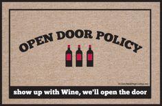 I'll open up