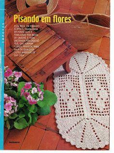 Talita Monteiro: Croche Tapete Florido