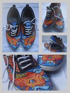 zapatillas pintadas a mano #Zapatillaspintadasamano