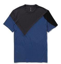 Neil BarrettColour-Block Cotton-Jersey T-Shirt|MR PORTER